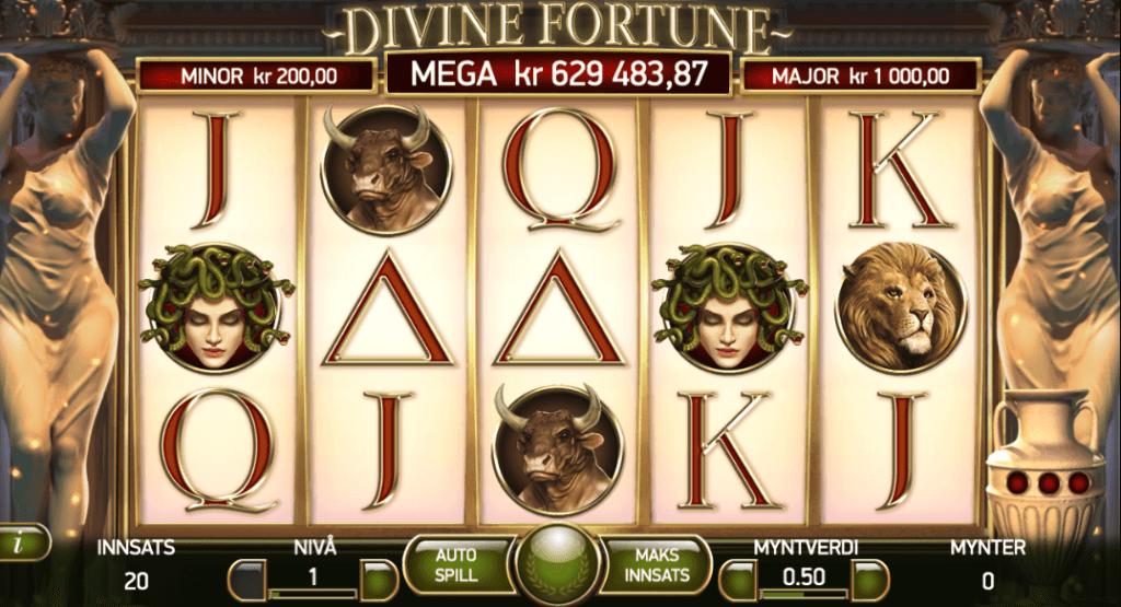 Jackpot spilleautomaten Divine Fortune