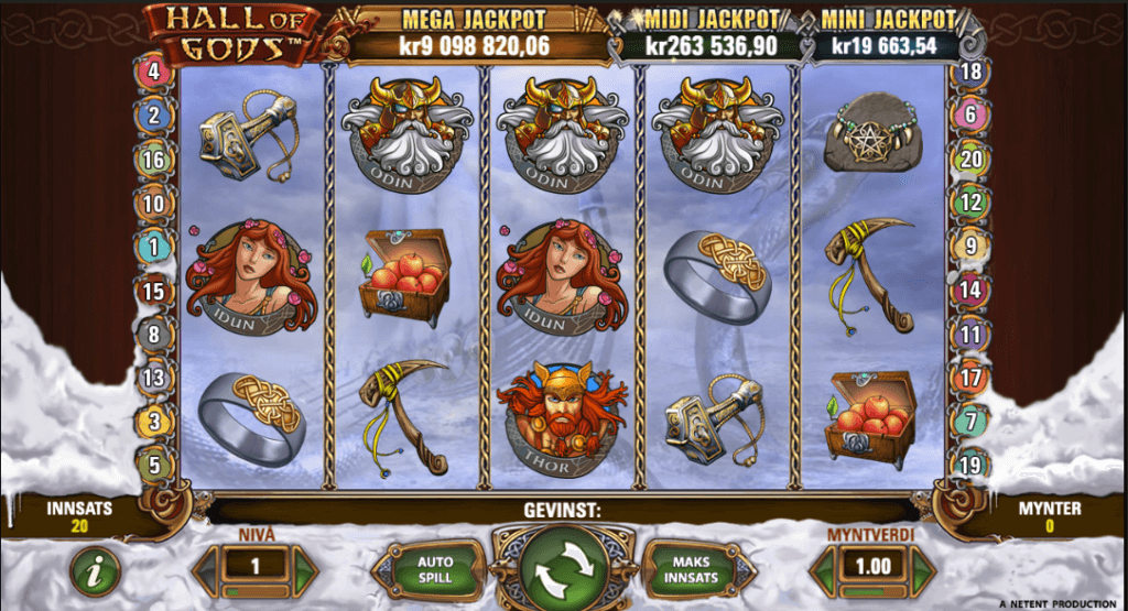 Jackpot spilleautomaten Hall of Gods