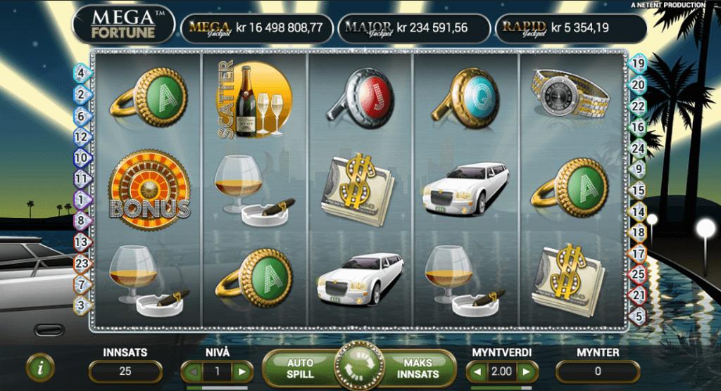 Jackpot spilleautomaten Mega Fortune