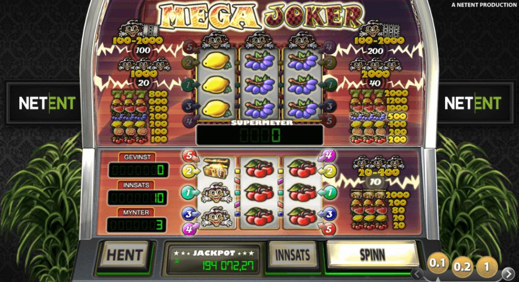 Jackpot spilleautomaten Mega Joker