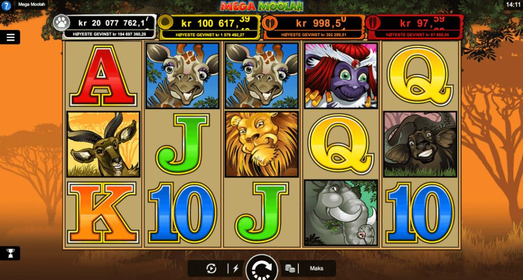 Jackpot spilleautomaten Mega Moolah