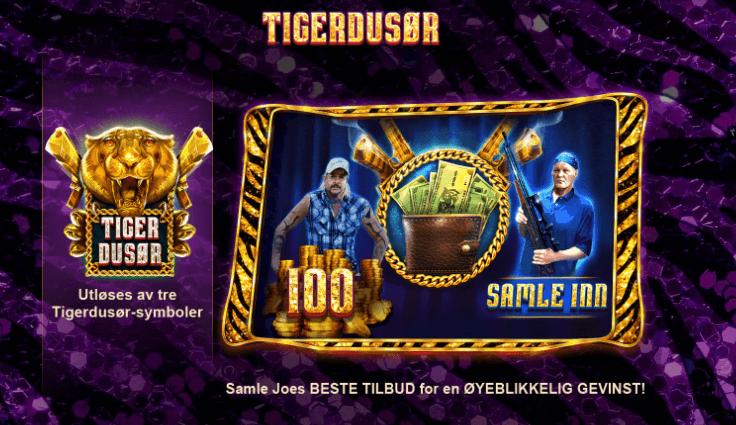Joe Exotic tigerdusør bonusspill