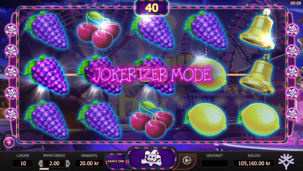 Jokerizer Mode på spilleautomaten Jokerizer av Yggdrasil