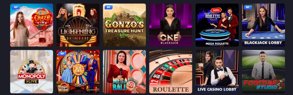 Joo Casino - Live Casino
