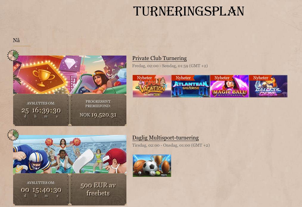 JoyCasino casinoturneringer