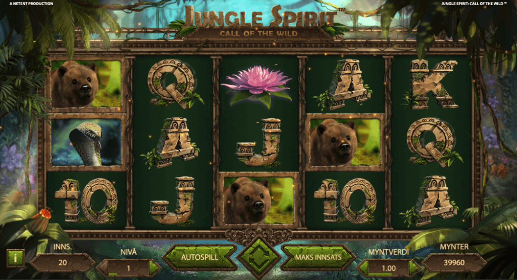 Spilleautomaten Jungle Spirit Call of the Wild av NetEnt
