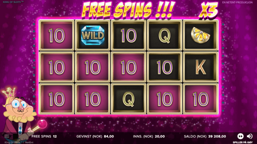 King of Slots free spins