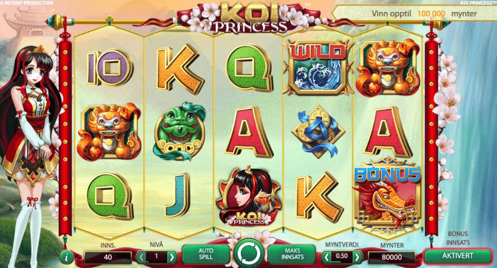 Spilleautomaten Koi Princess av NetEnt