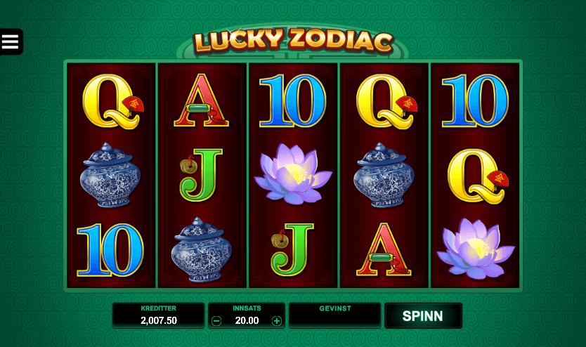 Spilleautomaten Lucky Zodiac av Microgaming