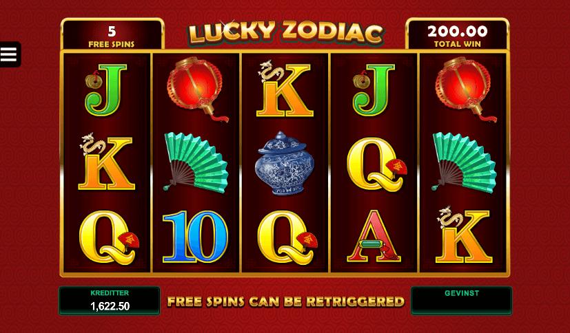 Lucky Zodiac free spins