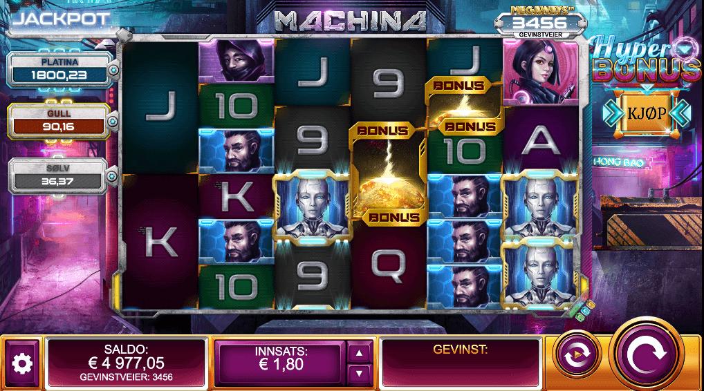 Spilleautomaten Machina Megaways™ hovedspill