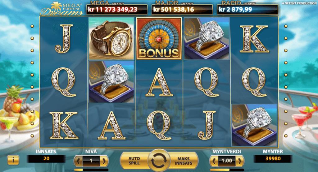 Spilleautomaten Mega Fortune Dreams av NetEnt