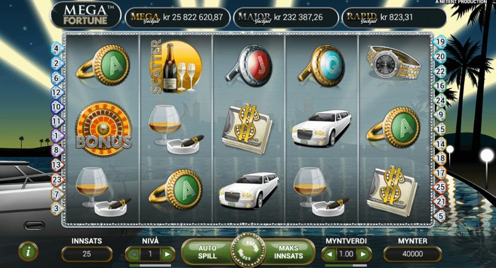 Spilleautomaten Mega Fortune av NetEnt