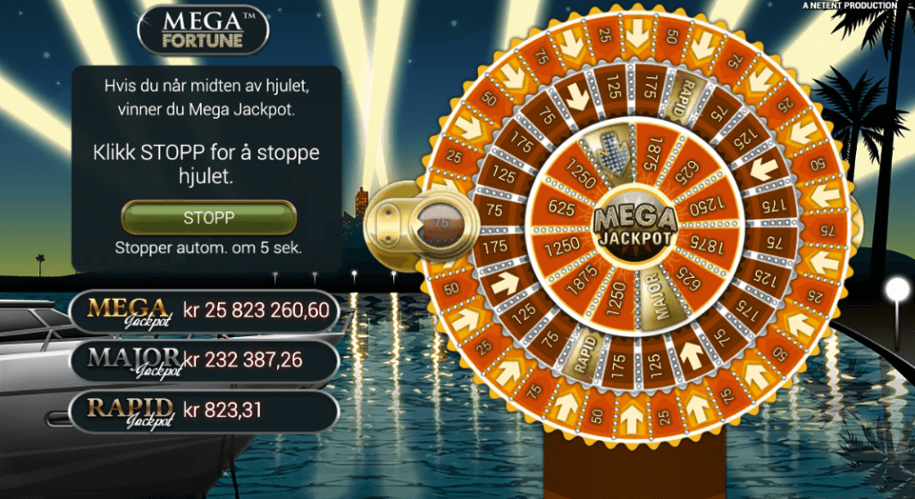 Mega Fortune - Jackpot-lykkehjul