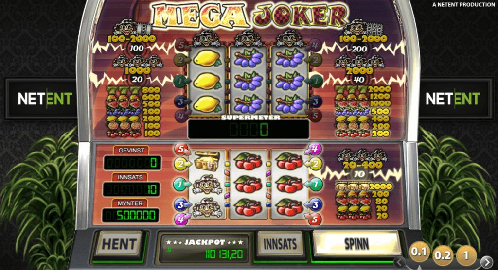Mega Joker - spilleautomat med høy RTP