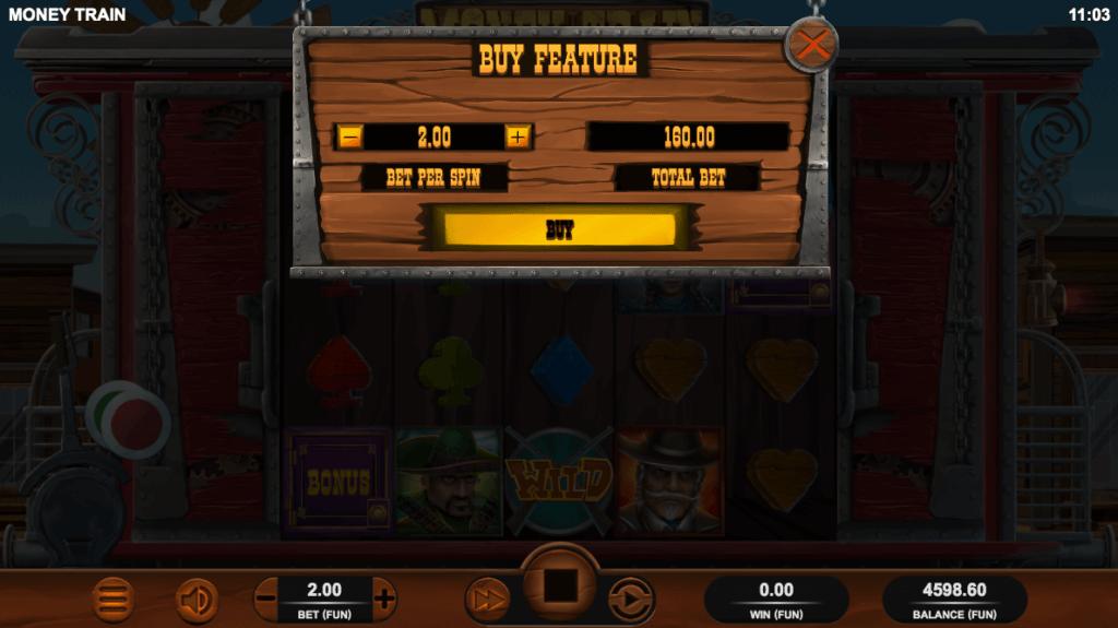 Bonus Buy-funksjonen på spilleautomaten Money Train