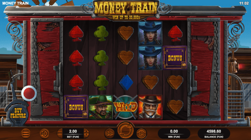 Hovedspillet på spilleautomaten Money Train