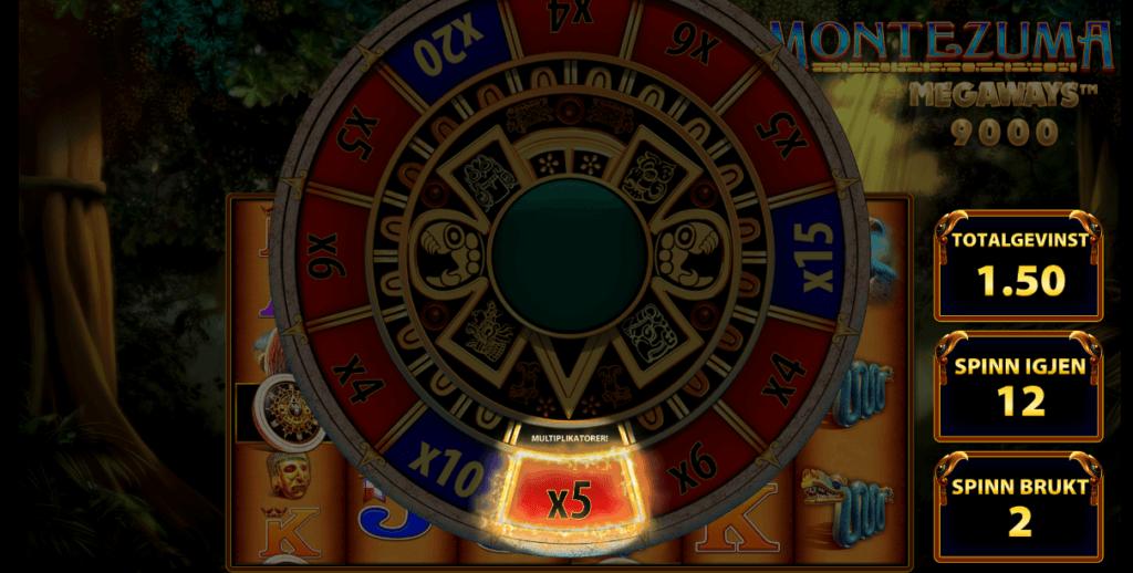 Montezuma Megaways™ multiplikatorhjul