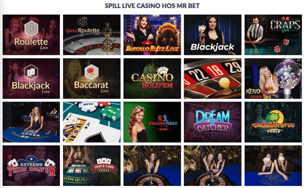 Mr.Bet Casino - Live Casino