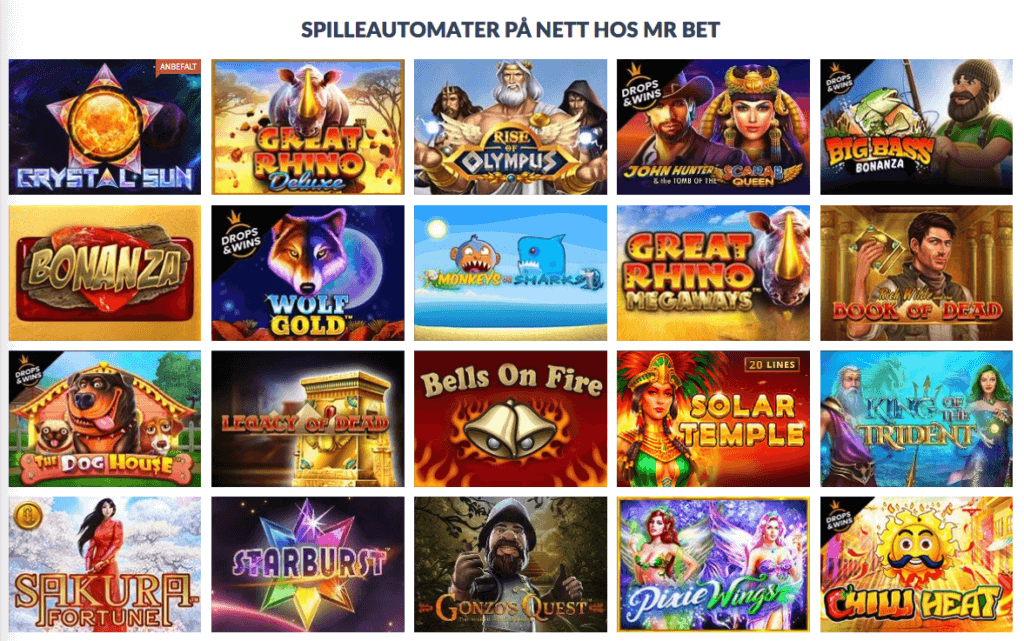 Mr.Bet Casino spilleautomater