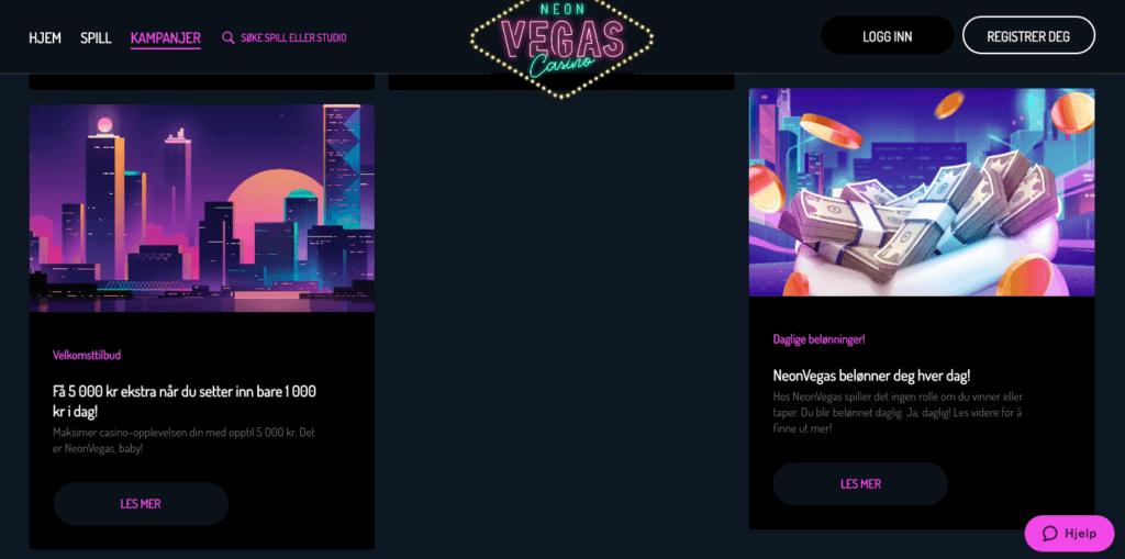 NeonVegas tilbud