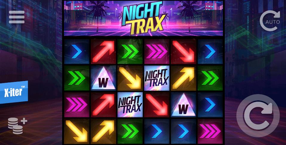 Spilleautomaten Night Trax hovedspill