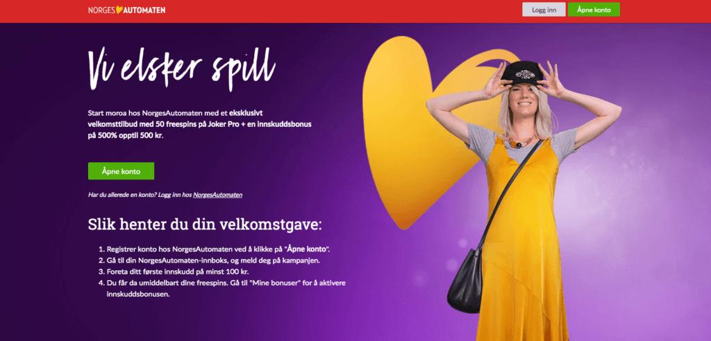 Eksklusiv bonus hos Norgesautomaten