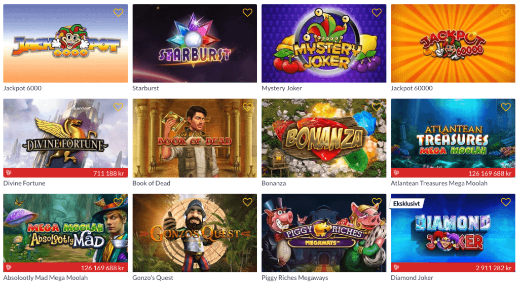 Norgesautomaten spill med free spins