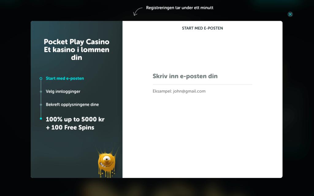 Pocket Play registrering