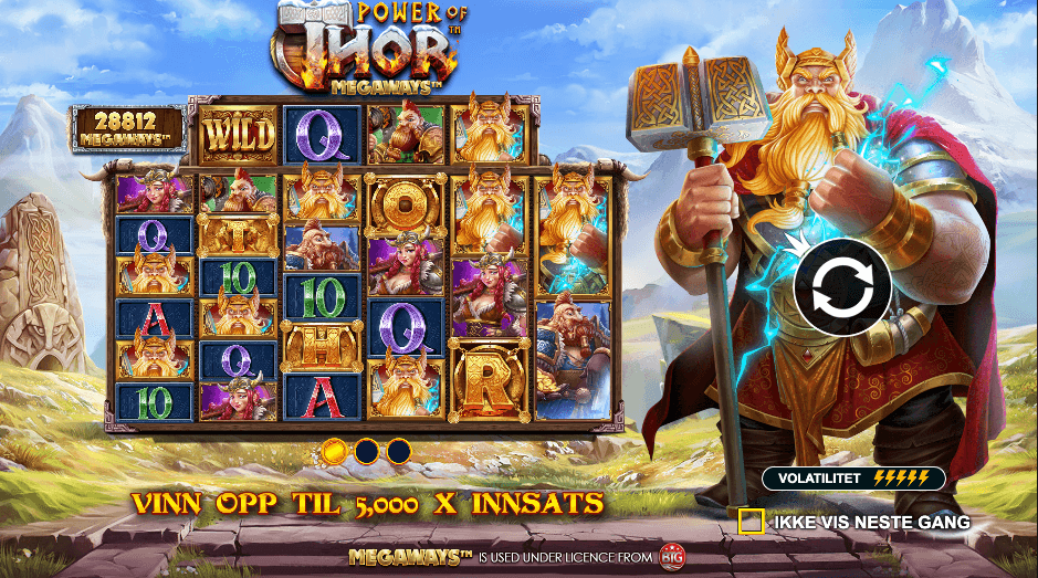 Spilleautomaten Power of Thor Megaways™ av Pragmatic Play