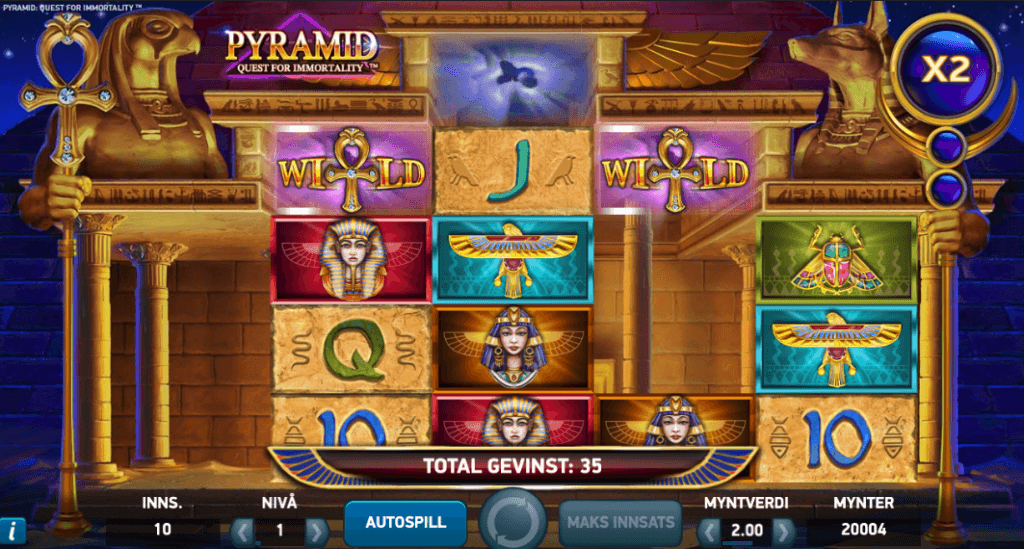 Pyramid: Quest for Immortality - Avalanche-multiplikator
