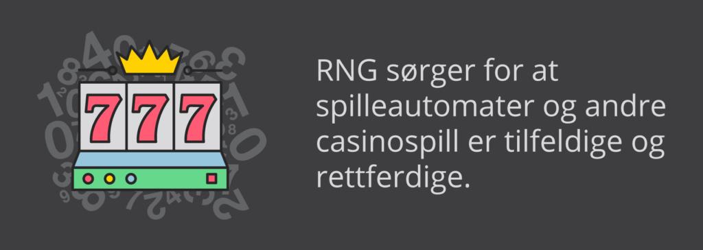 RNG sørger for tilfeldighet og rettferdighet på casinospill