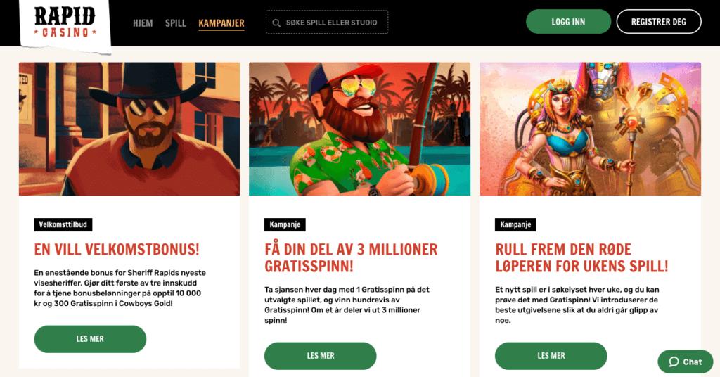 Rapid Casino tilbud