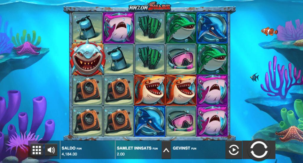 Spilleautomaten Razor Shark av Push Gaming