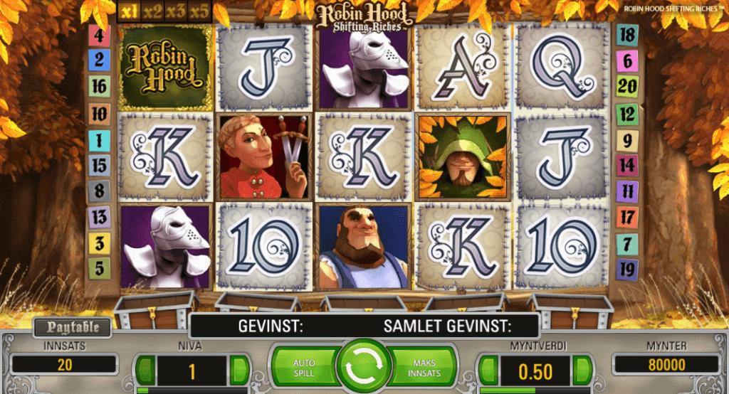 Spilleautomaten Robin Hood Shifting Riches av NetEnt