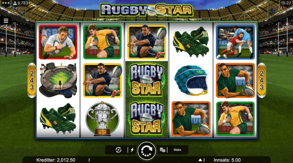 Spilleautomaten Rugby Star av Microgaming