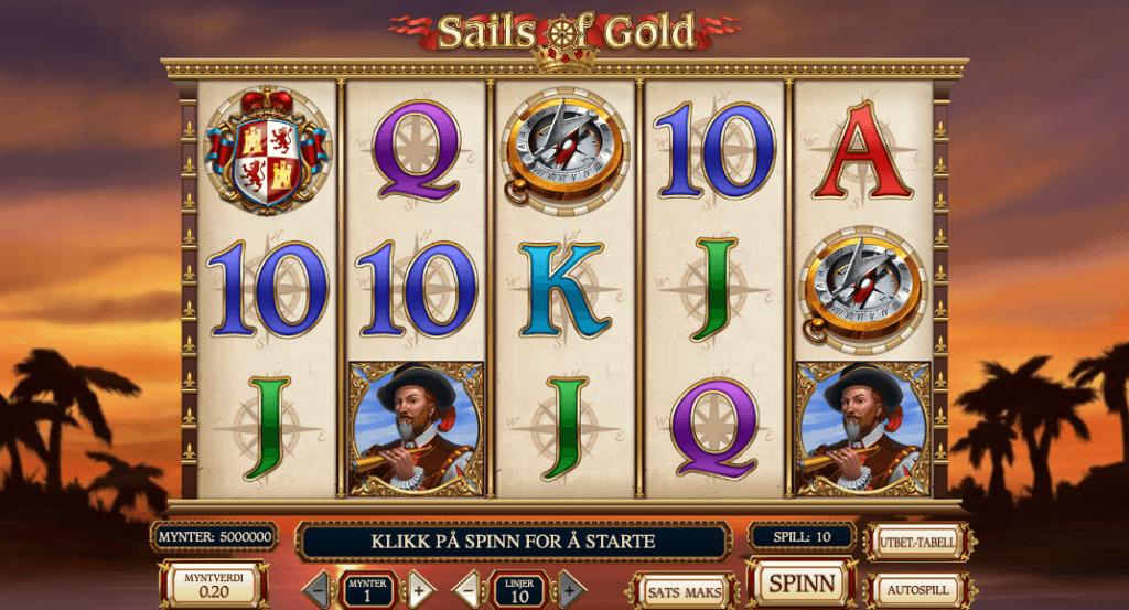 Spilleautomaten Sails of Gold av Play'n Go