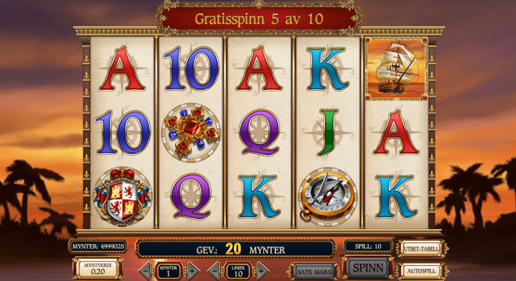 Sails of Gold free spins
