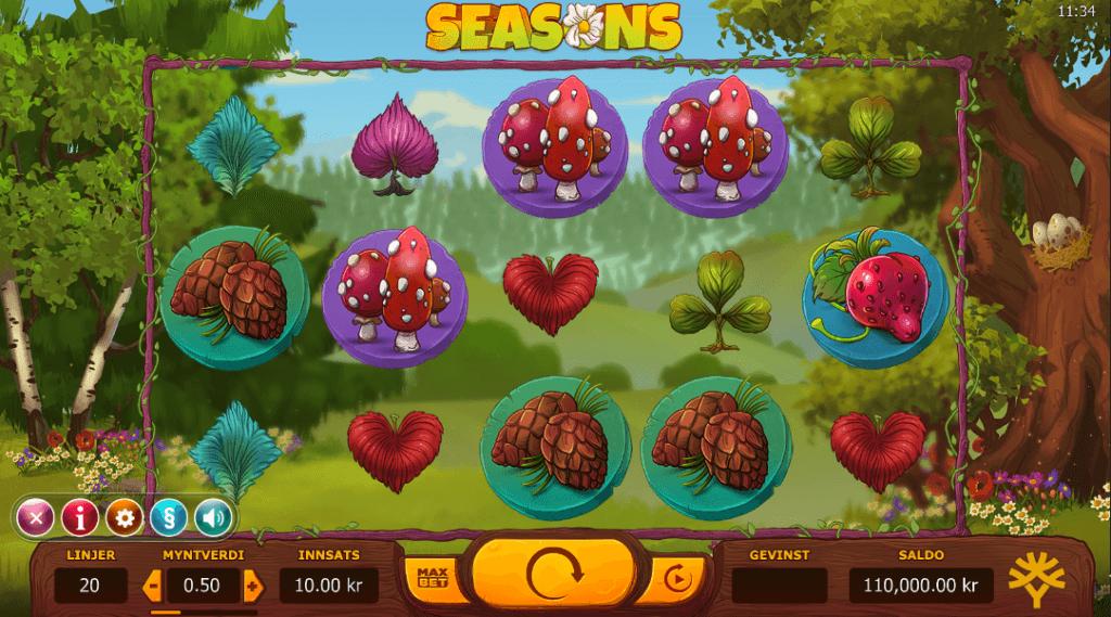 Spilleautomaten Seasons av Yggdrasil