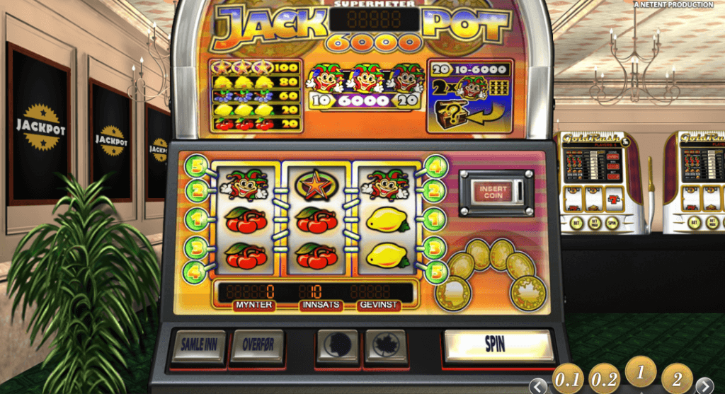 Spilleautomaten Jackpot 6000