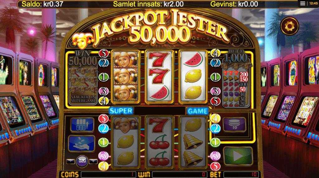 Spilleautomaten Jackpot Jester 50 000
