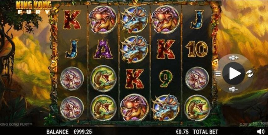 Spilleautomaten King Kong Fury
