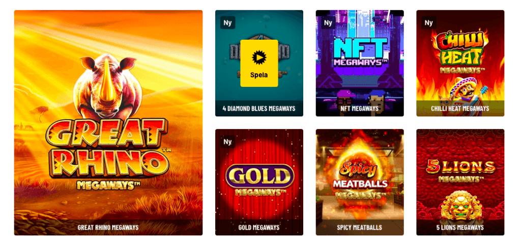 Spilleautomater med høy volatilitet