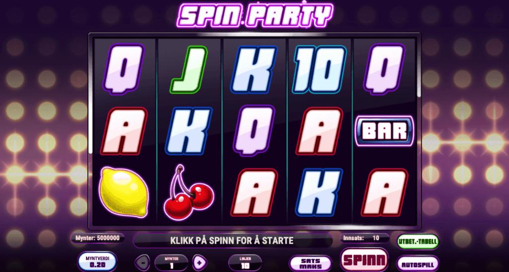 Spin Party av Play'n Go