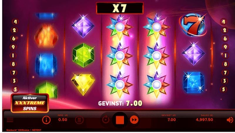 Starburst XXXtreme - multiplikator
