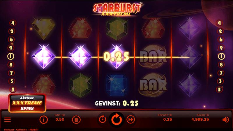 Starburst XXXtreme - symbolkombinasjon
