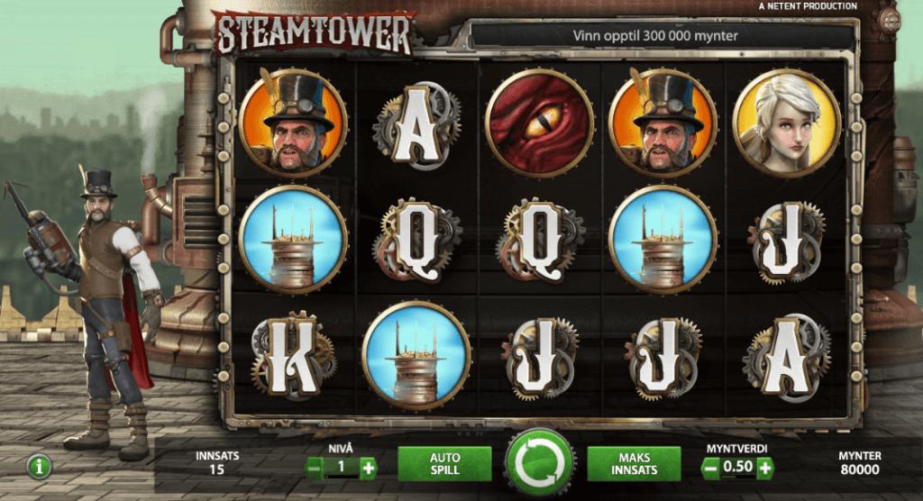 Spilleautomaten Steam Tower av NetEnt