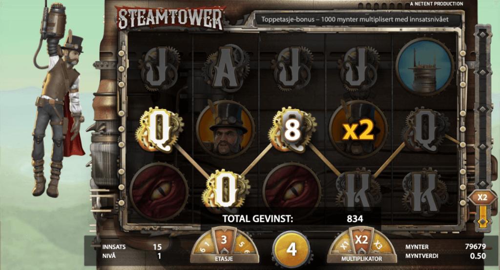 Steam Tower free spins