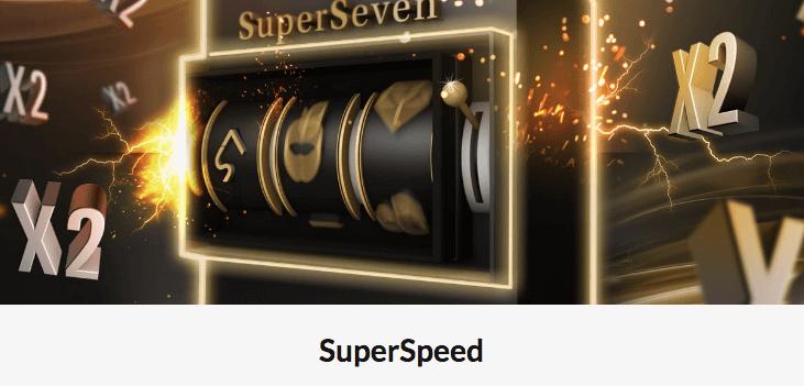 SuperSeven med SuperSpeed-spilleautomater som fyller opp SuperBar