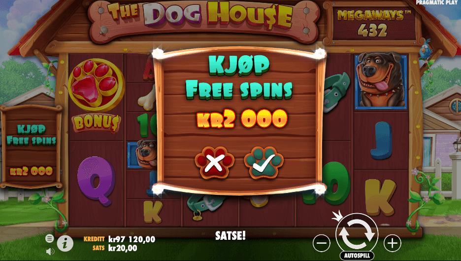 The Dog House Megaways™ Bonus Buy-funksjon